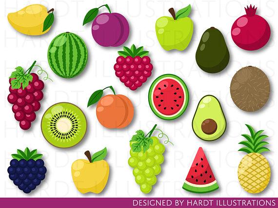 Clip art tutti frutti. Fruits clipart local fruit