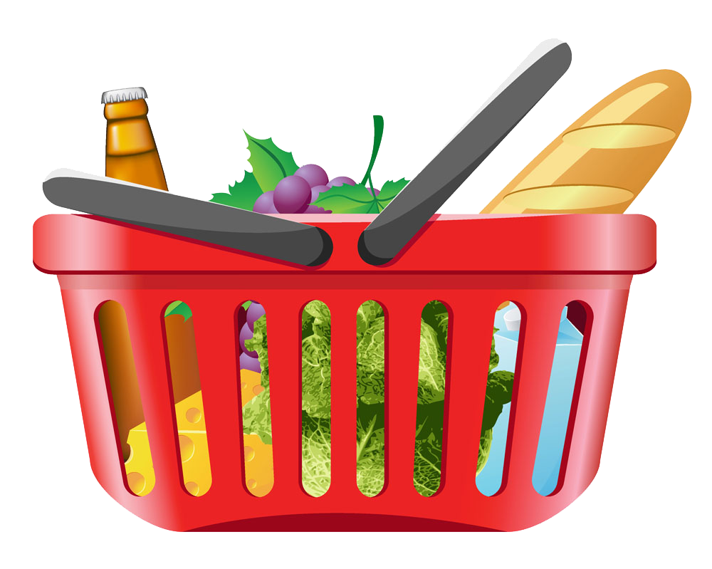 Shopping cart grocery clip. Fruits clipart vegetable store