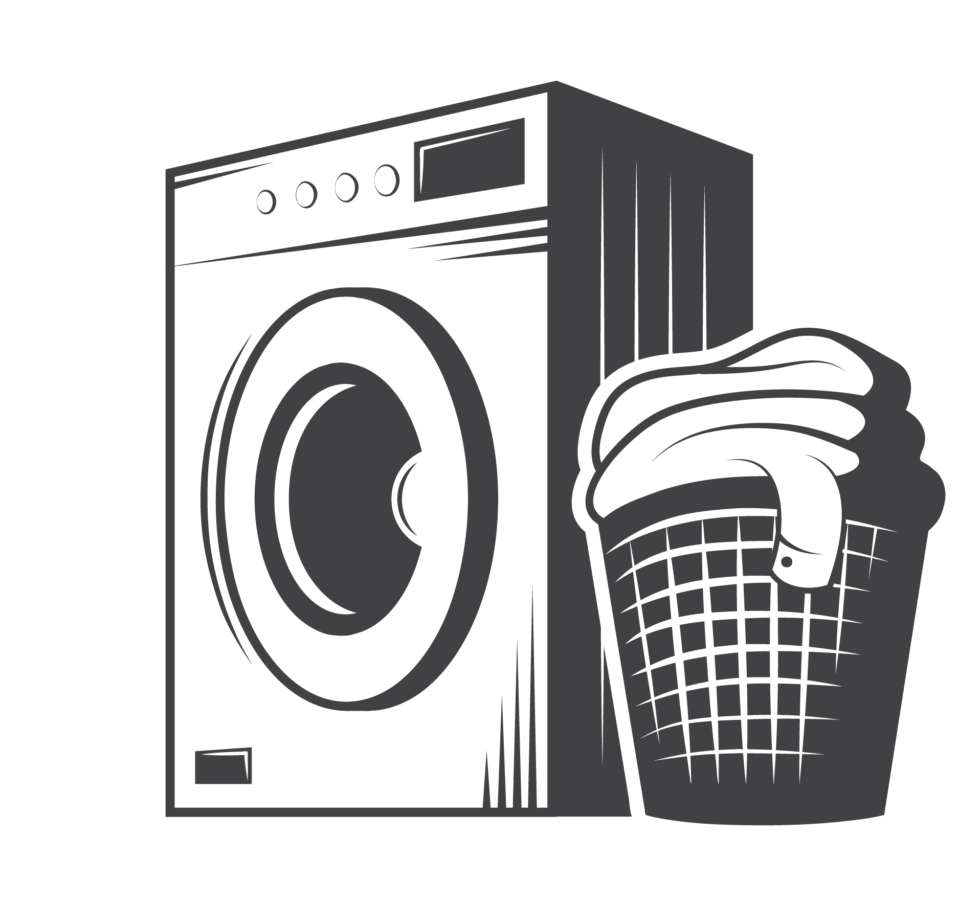 Housekeeping clipart black and white. Cleaning clip art washing