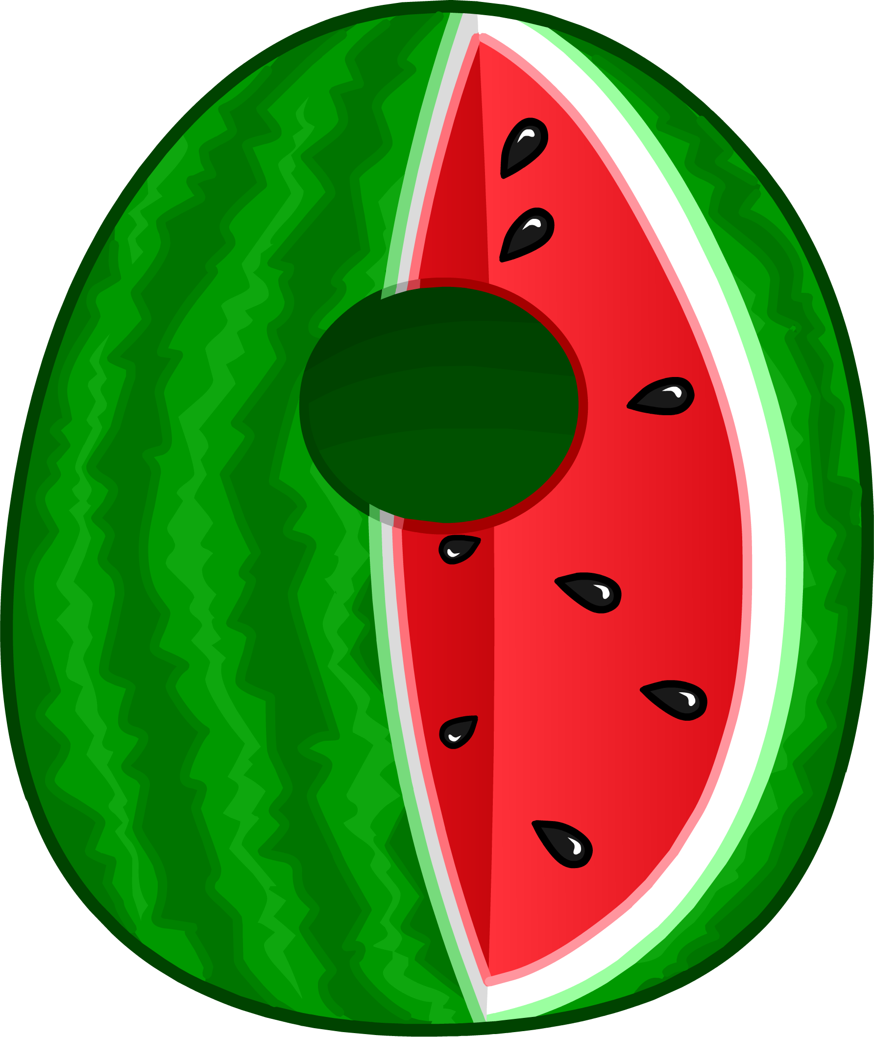 Costume club penguin wiki. Skin clipart watermelon