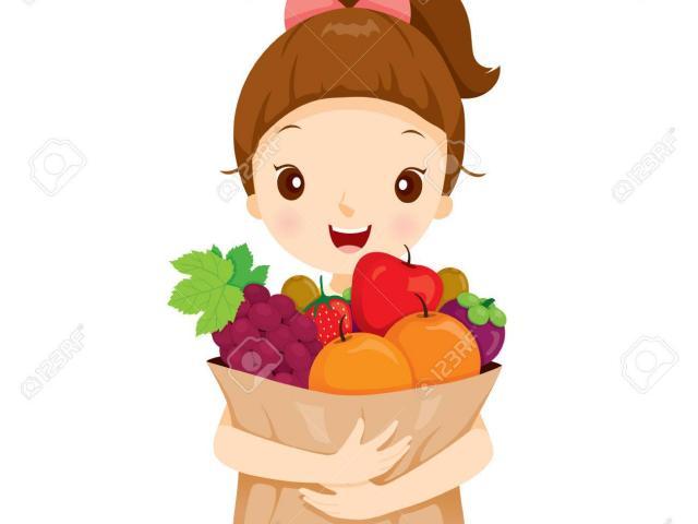 Fruits clipart woman. Free download clip art
