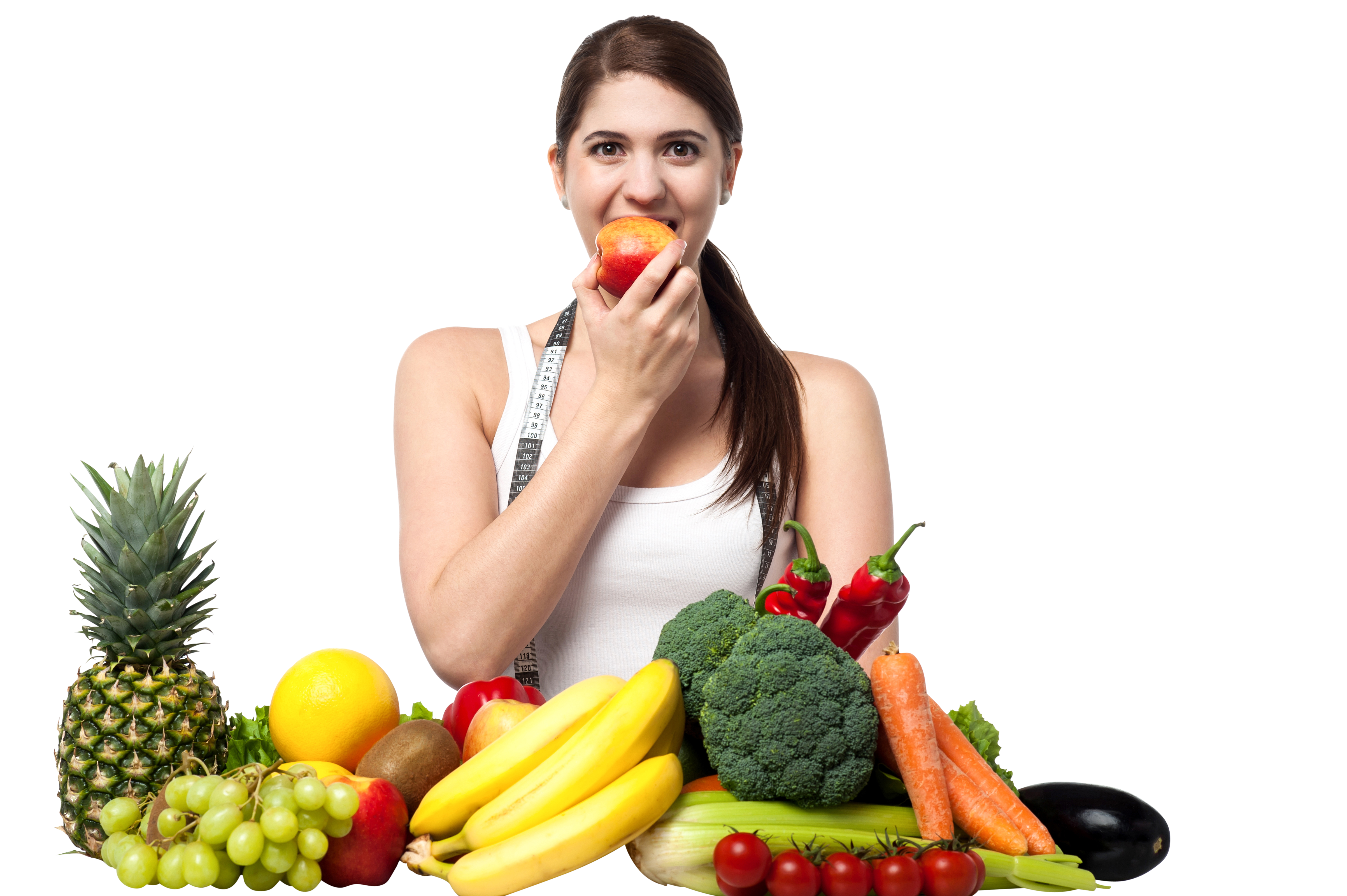 Girl with fruits image. Free png images for commercial use