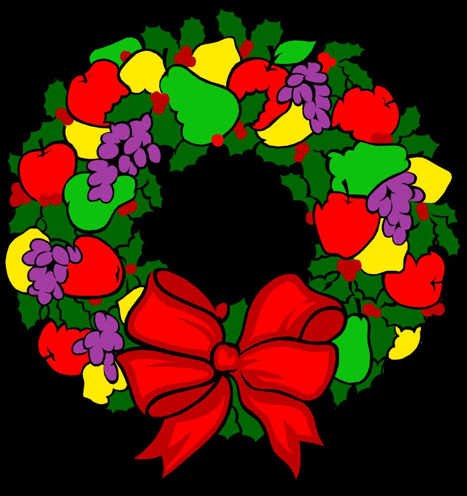 Onlinelabels clip art holiday. Clipart fruit wreath