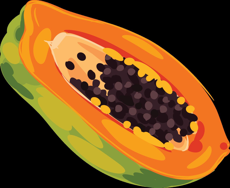 Fruits clipart papaya. Fruit clip art yellow