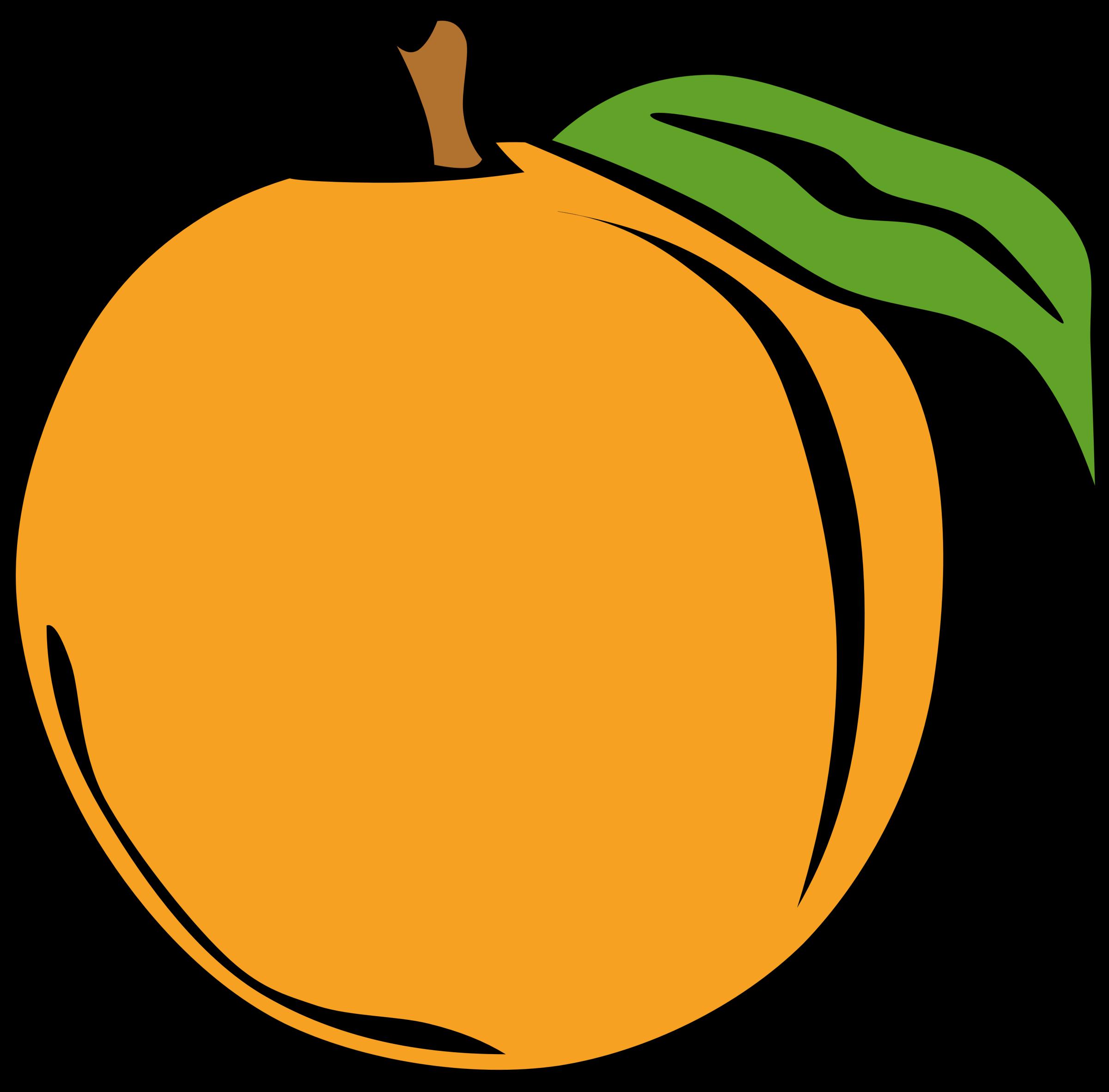 Clipart fruit yellow fruit. Simple peach big image