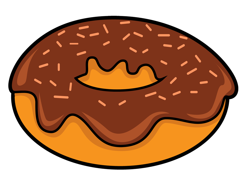 Doughnut clipart sugary food. Animated donuts