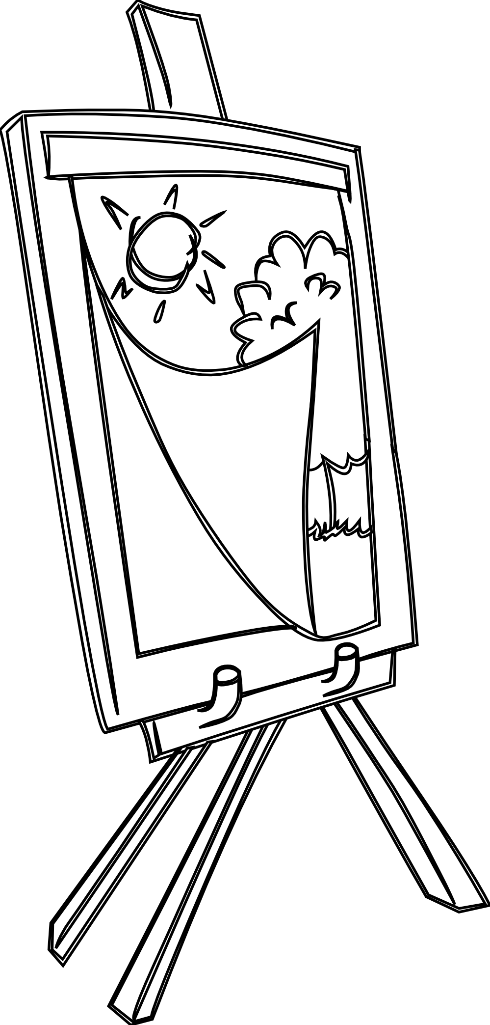 Painter clipart easel board. For drawing at getdrawings