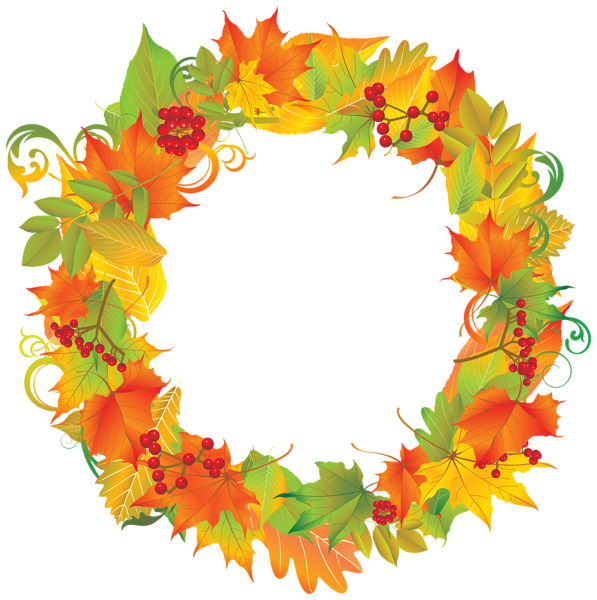 Wreath png image fall. Clipart gallery autumn