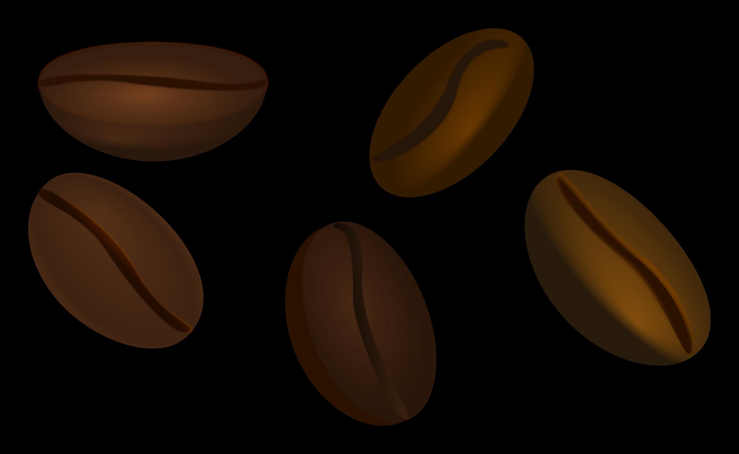 Coffee beans panda free. Bean clipart transparent