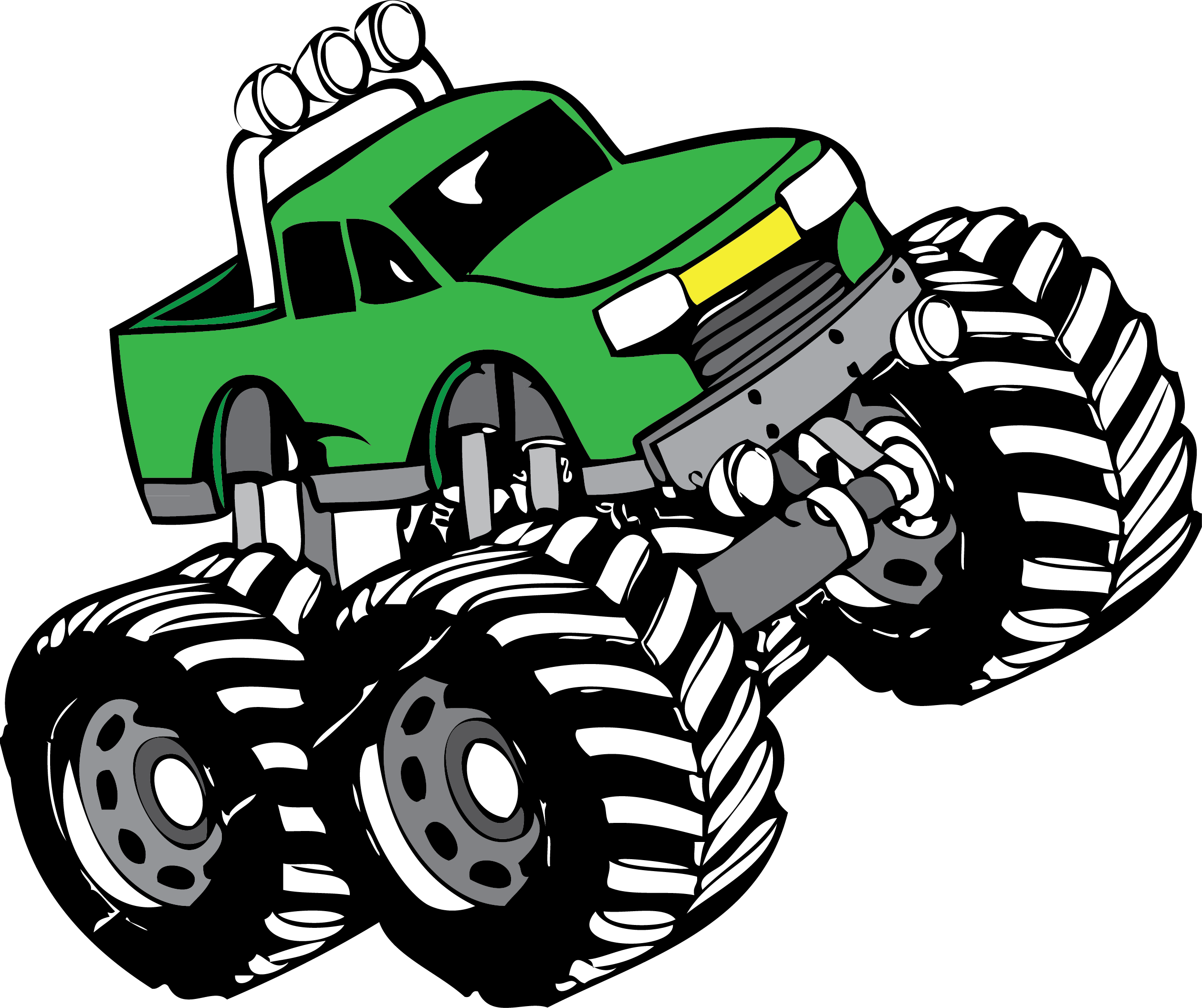 Monster truck clip art. Driver clipart delivery driver