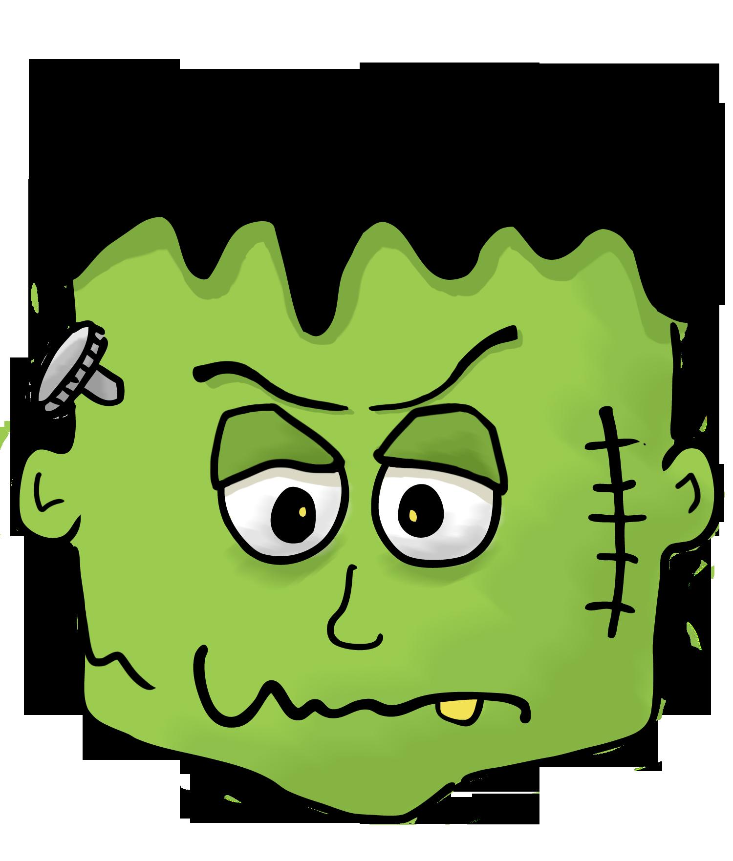 Frankenstein free . Clipart halloween face