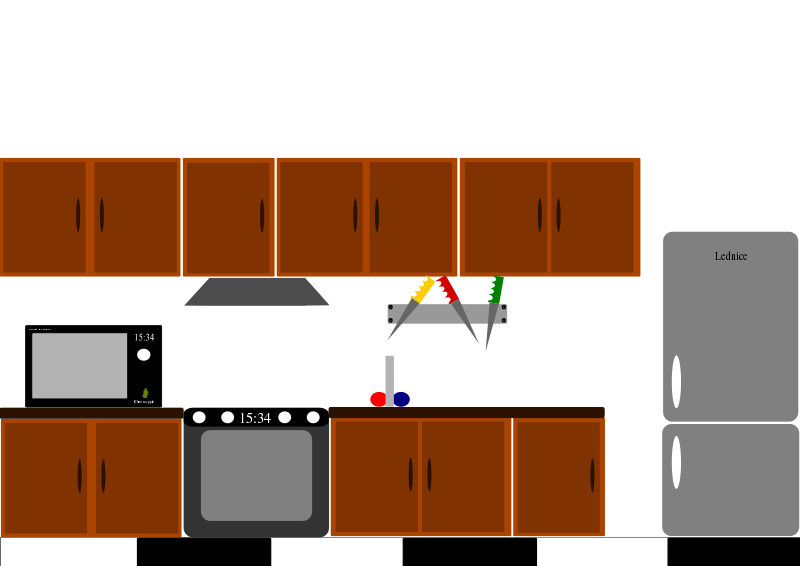 collection of hd. Clipart kitchen simple