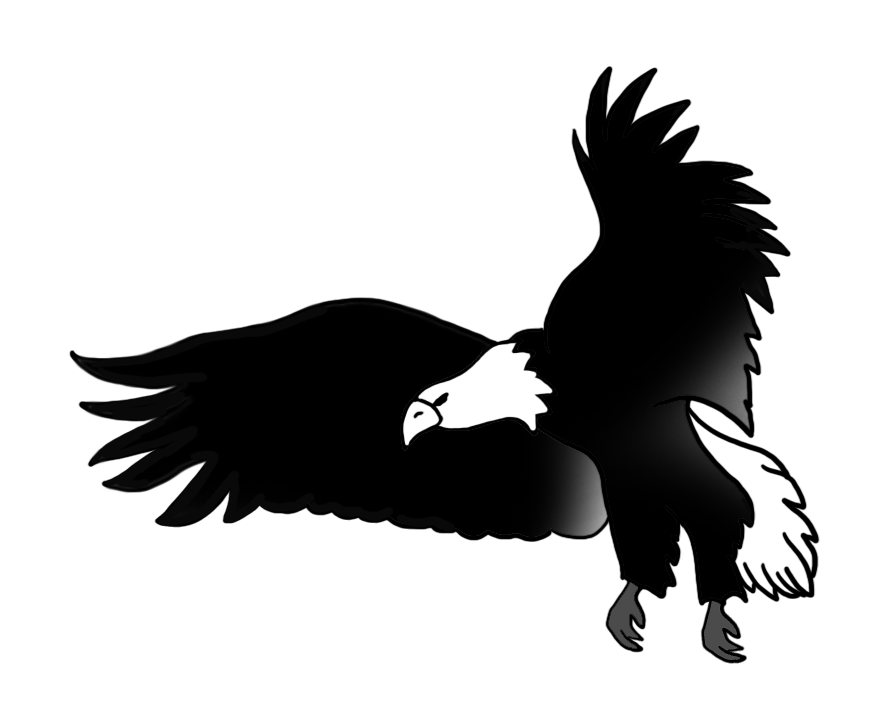 Eagle clipart abstract. Black and white drawing