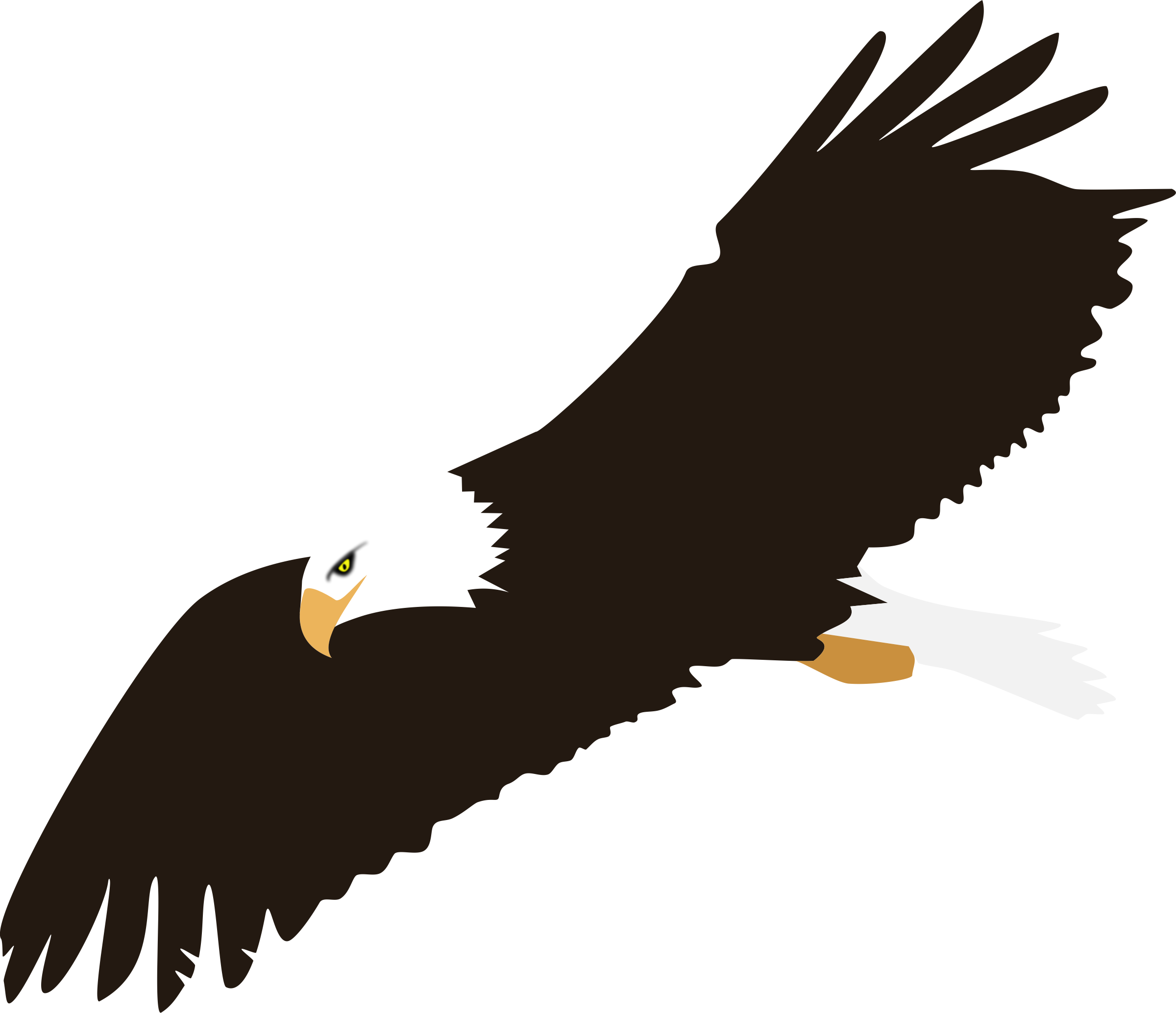 Silhouette clip art free. Eagle clipart eagle flying