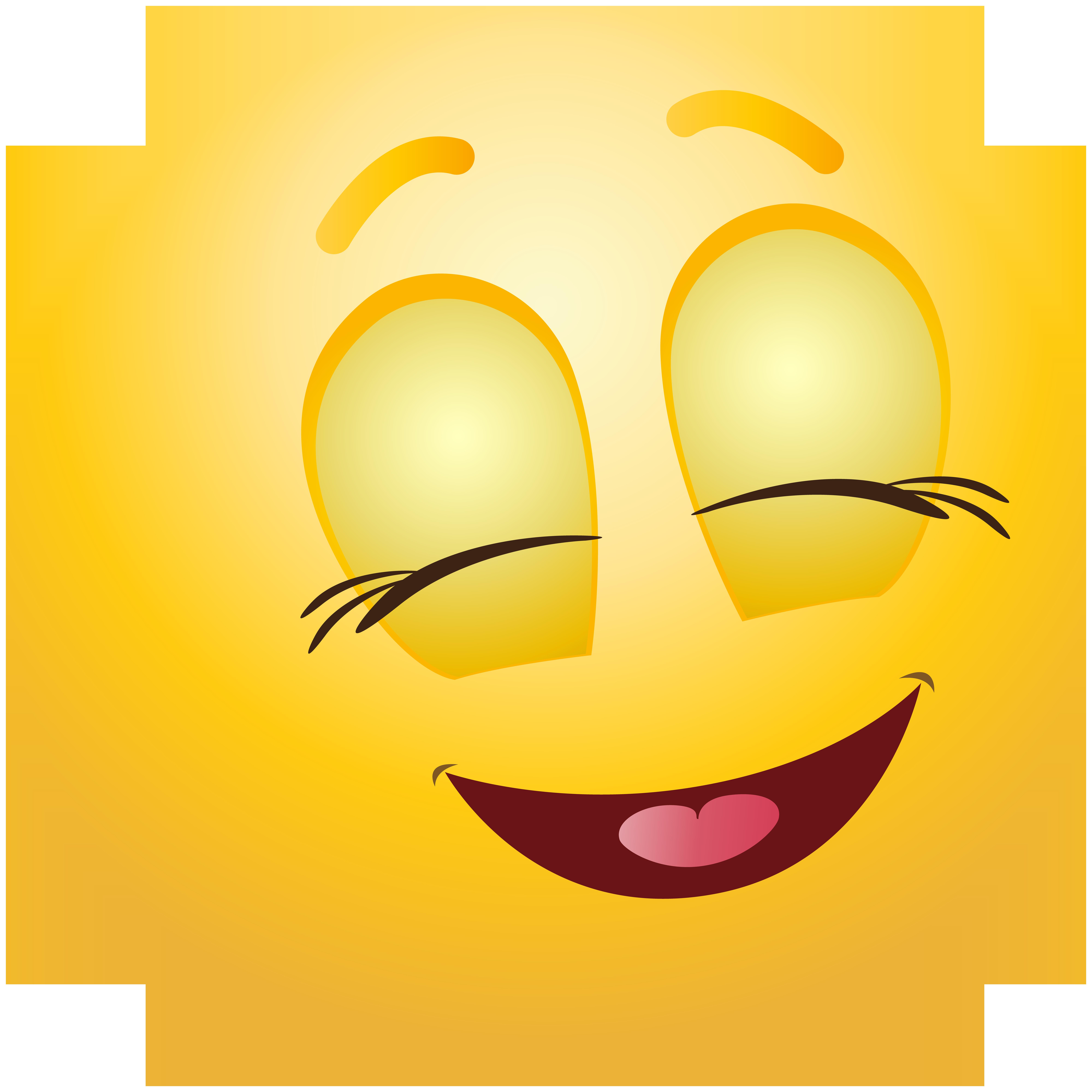 Smiley clipart facial expression. Pleased emoticon png clip
