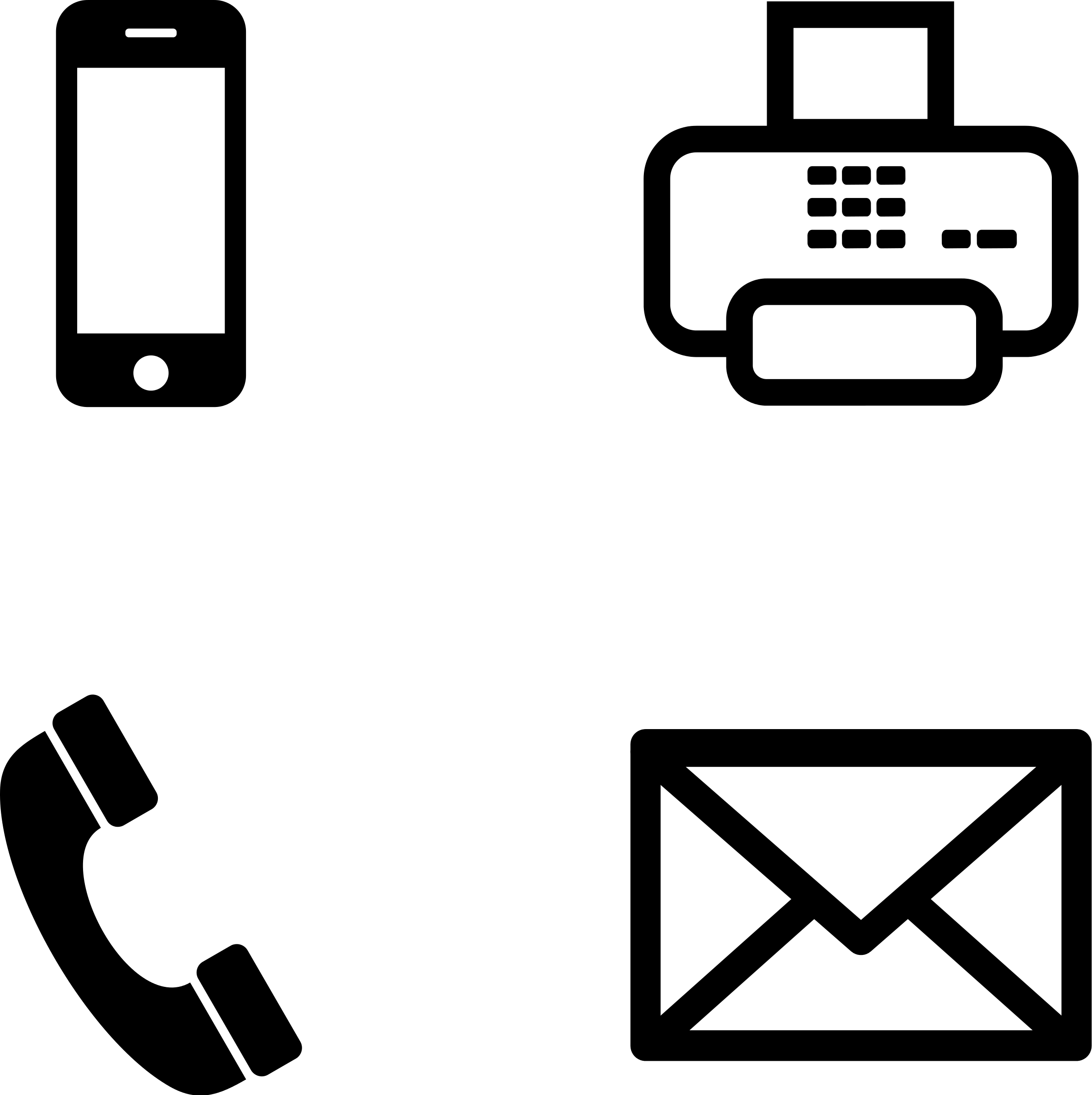 French clipart icon. Fax