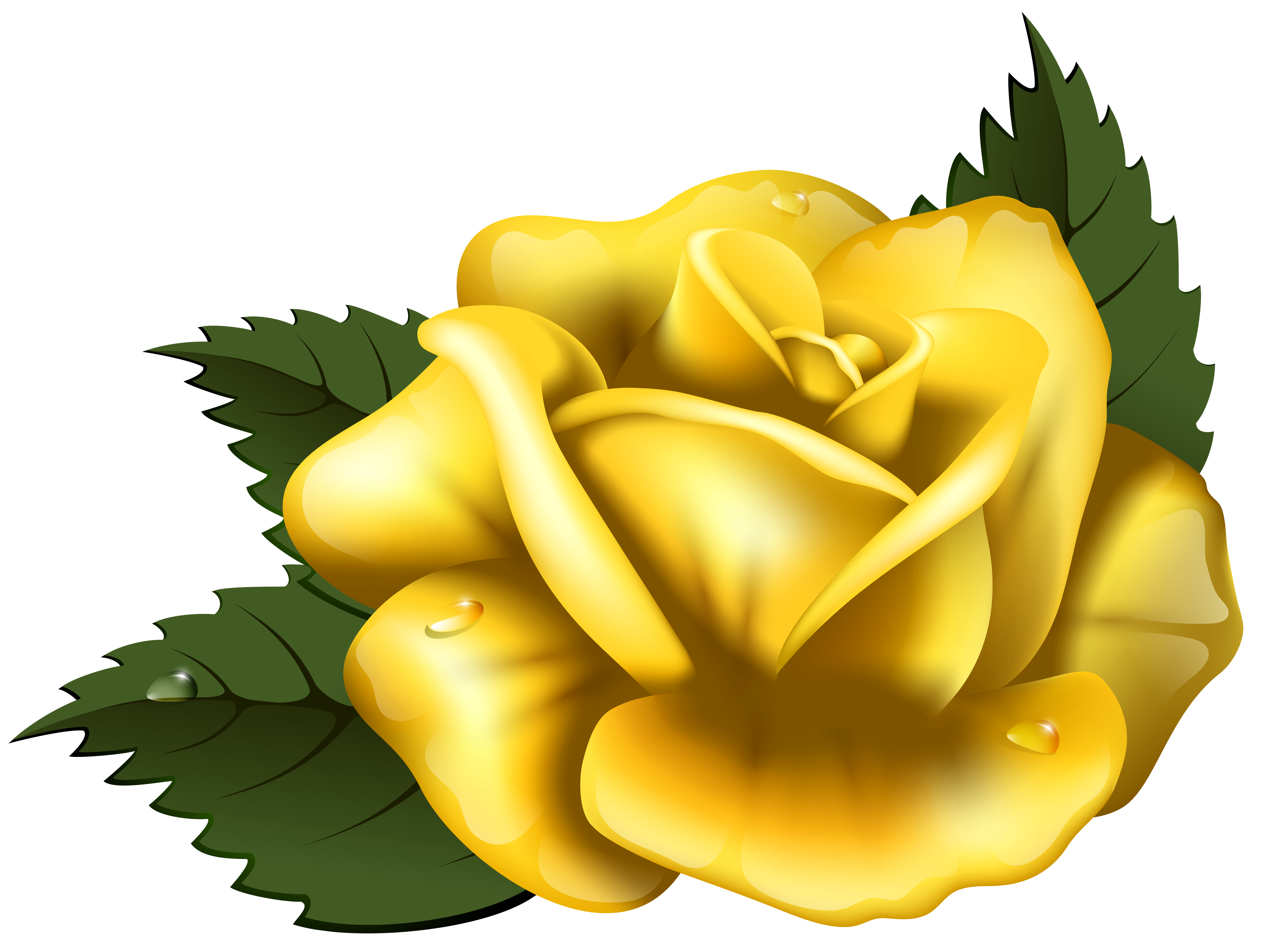 Large transparent png clip. Clipart rose yellow rose