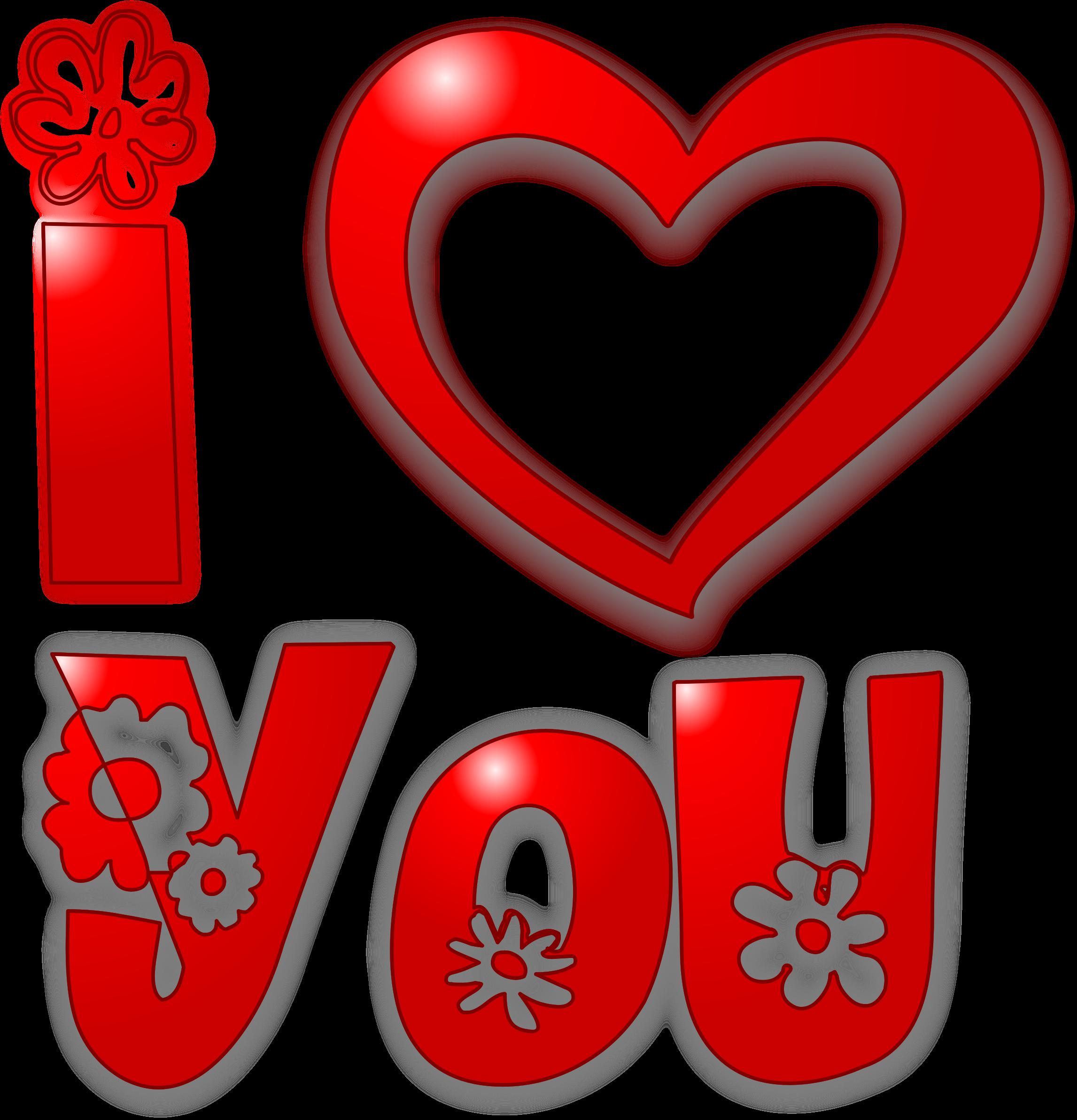 I love u at. Kind clipart loved