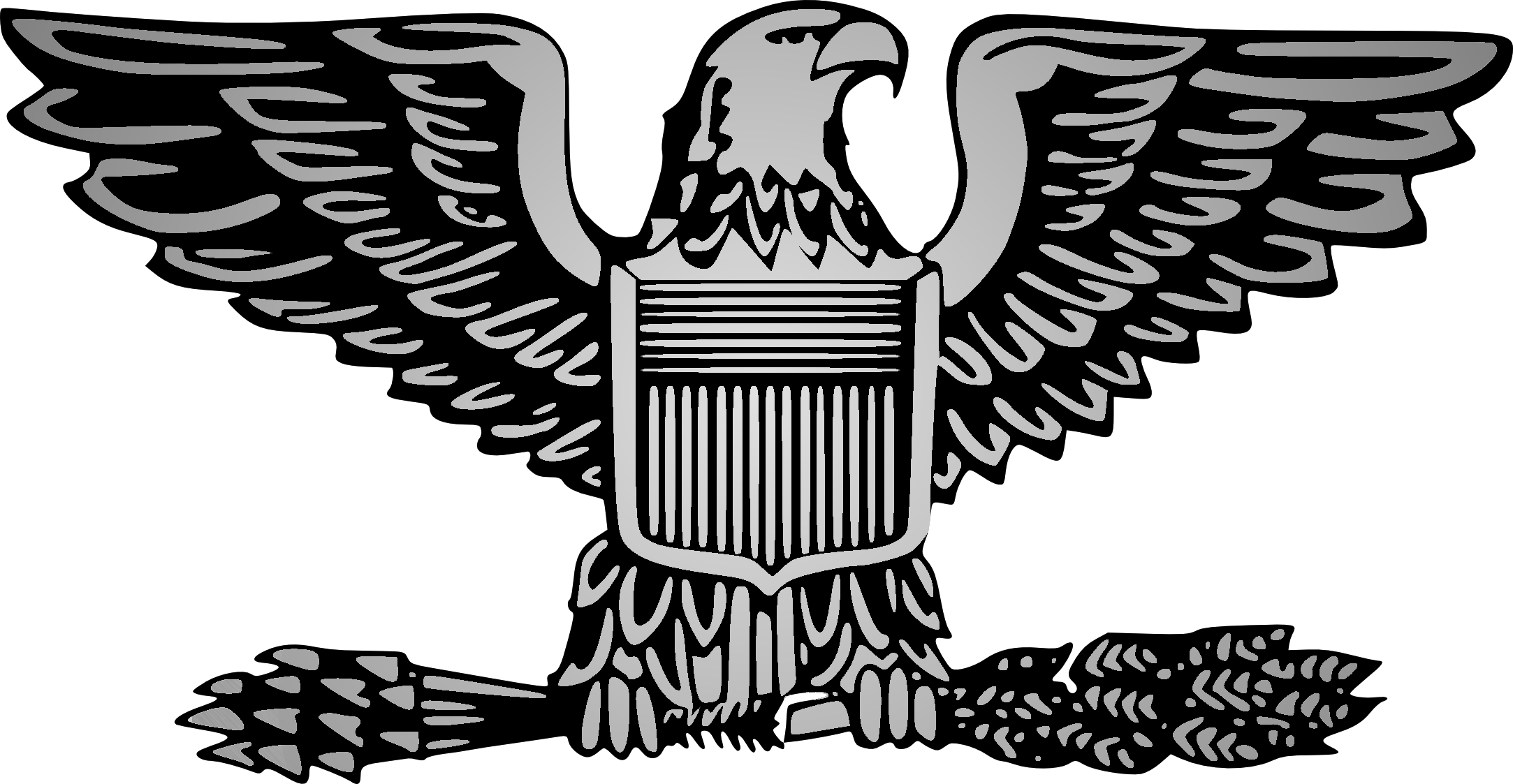 Army pencil and in. Eagle clipart illustration