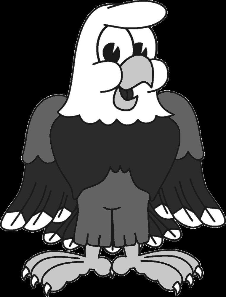 Track clipart eagle. Bald animal free black