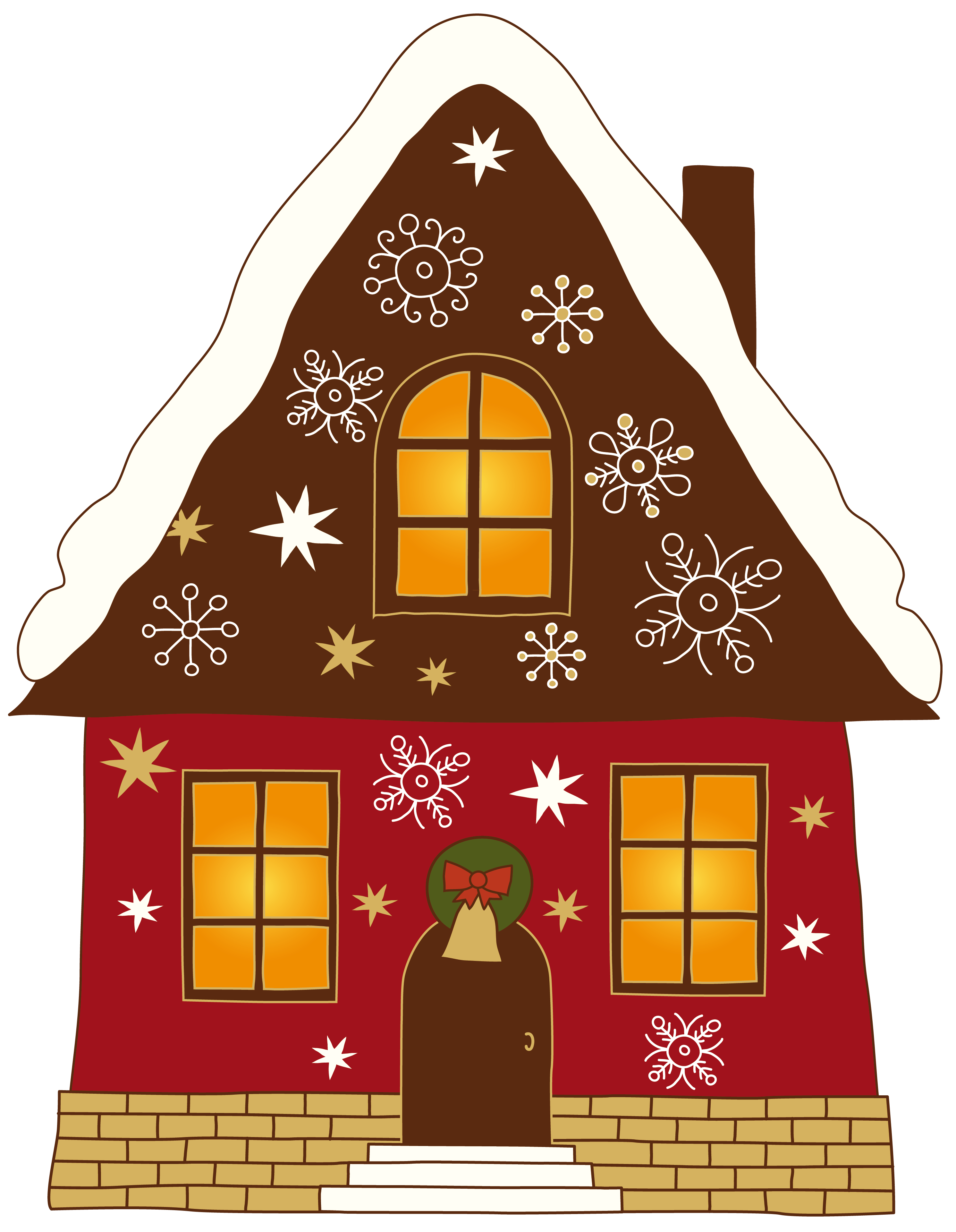 Exercise clipart christmas. Painted house png gallery