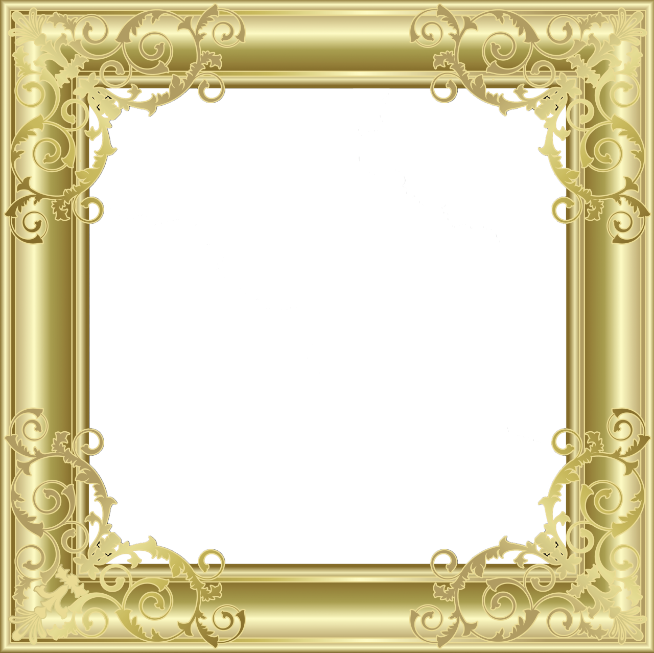 Gold photo gallery yopriceville. Frame png transparent