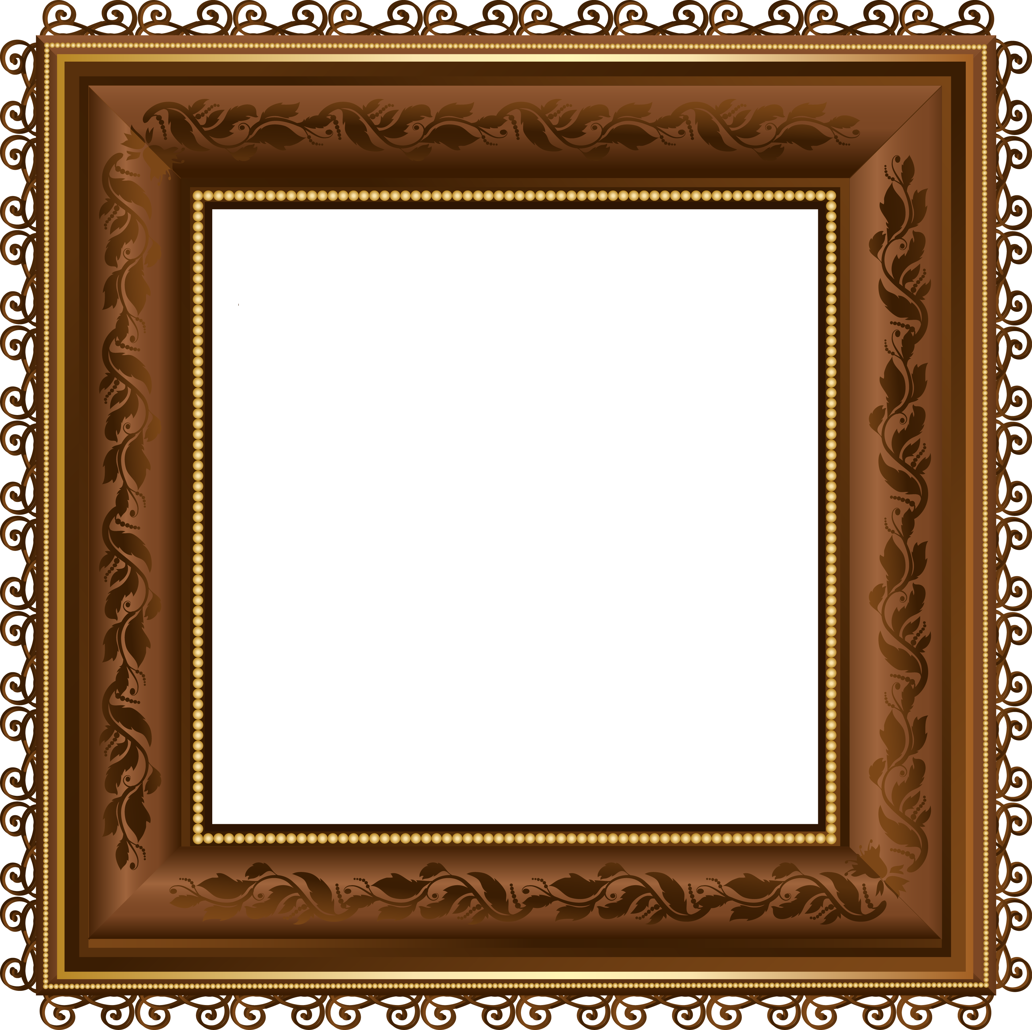 Brown png photo yopriceville. Clipart gallery photograph frame