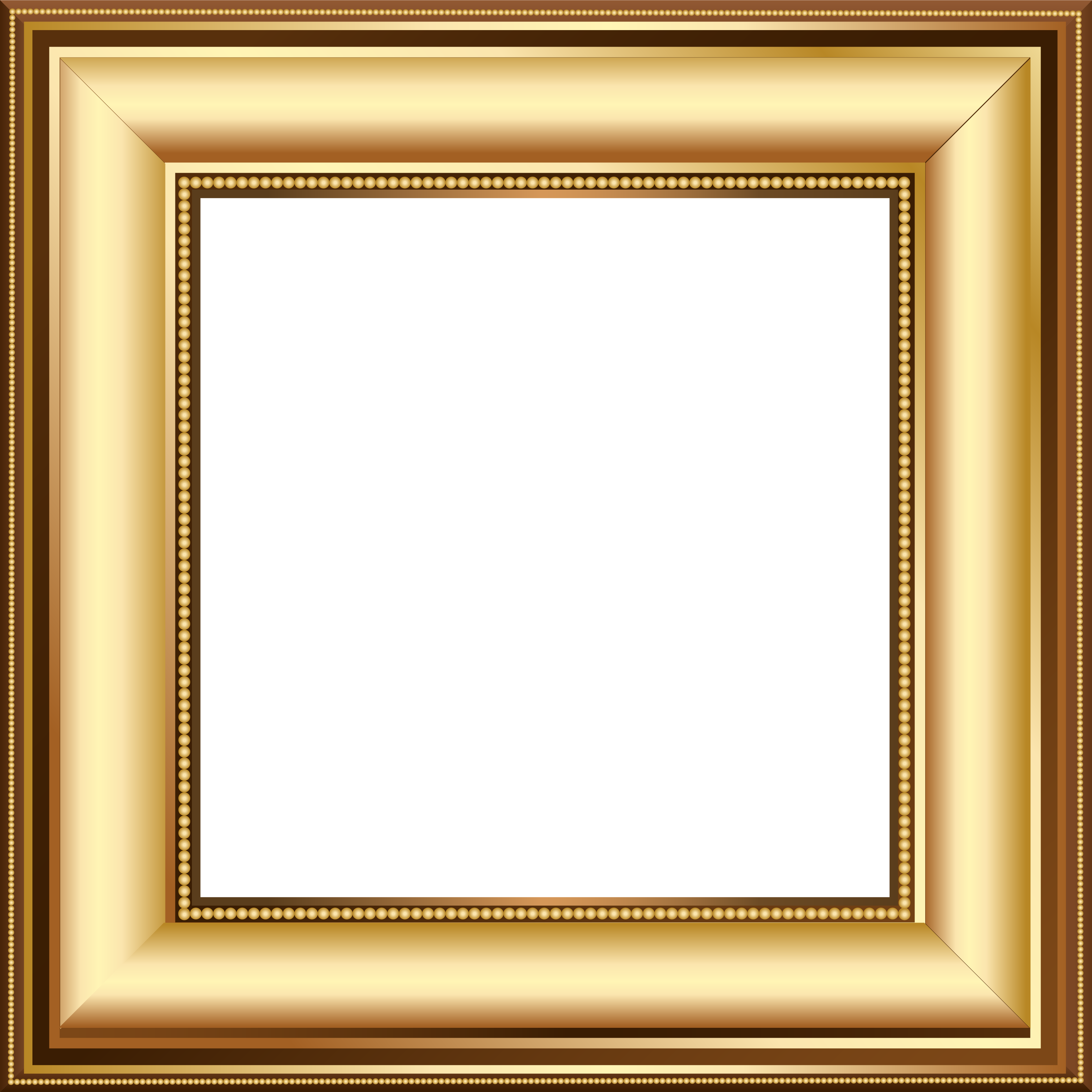 Gold and brown transparent. Mirror clipart cartoon