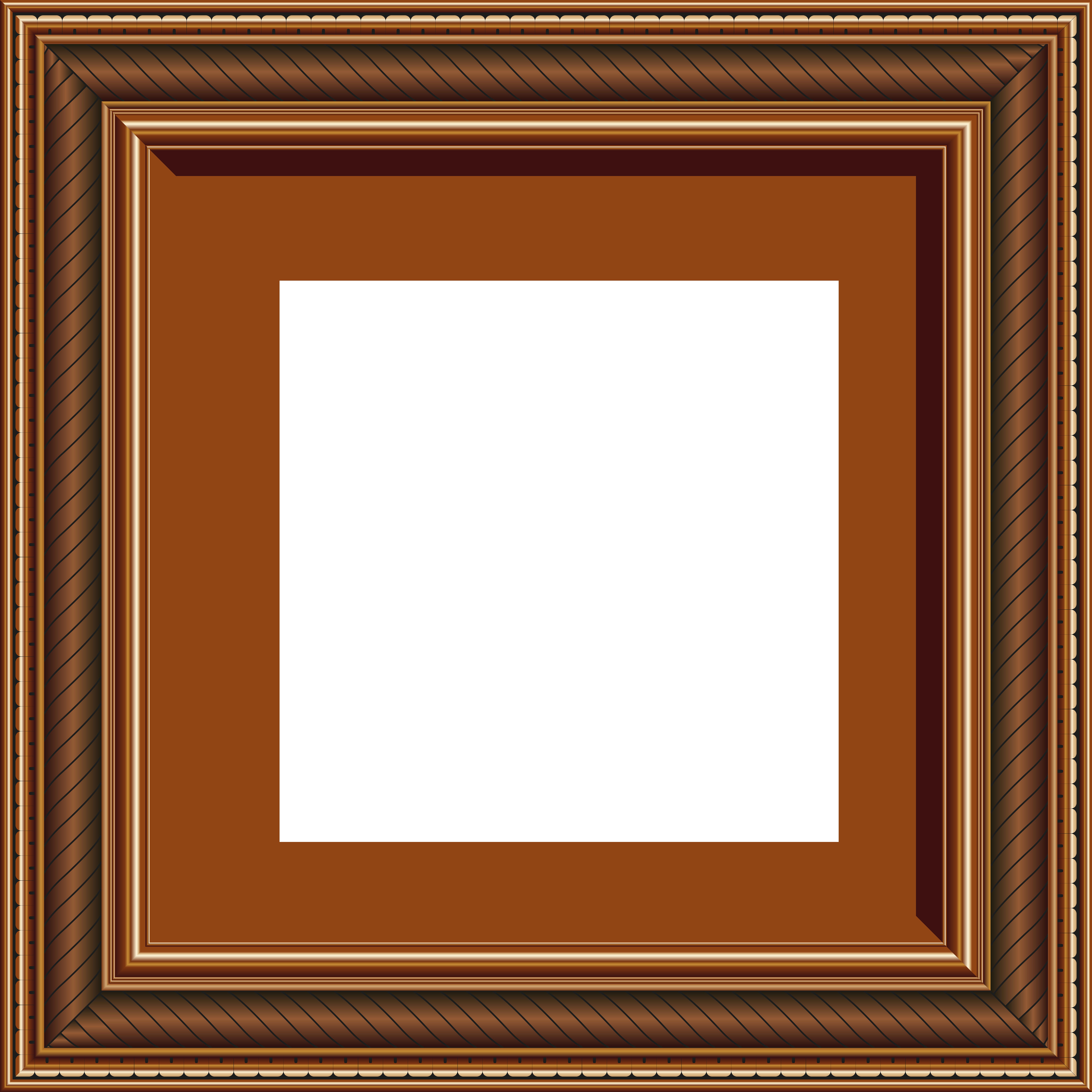 Square clipart photograph border. Transparent brown png photo