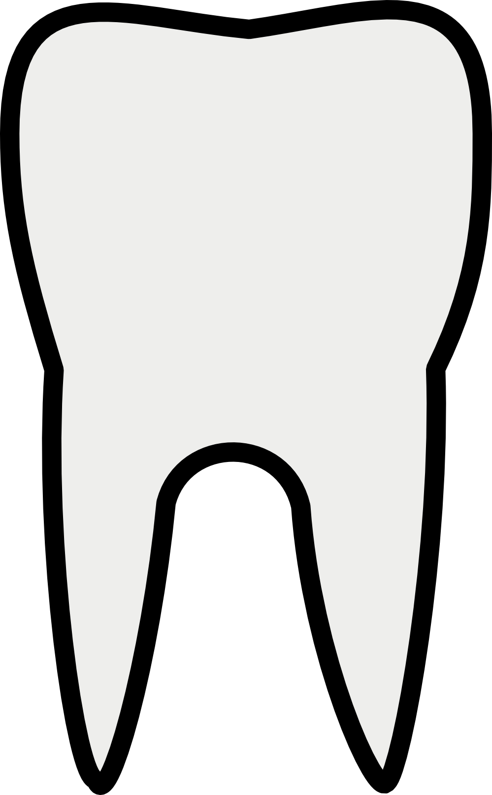 Teeth look at clip. Dentist clipart outline