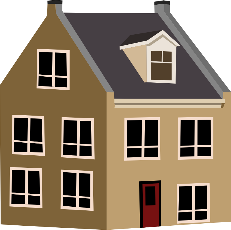 Home clipart residence. Simple house png hd