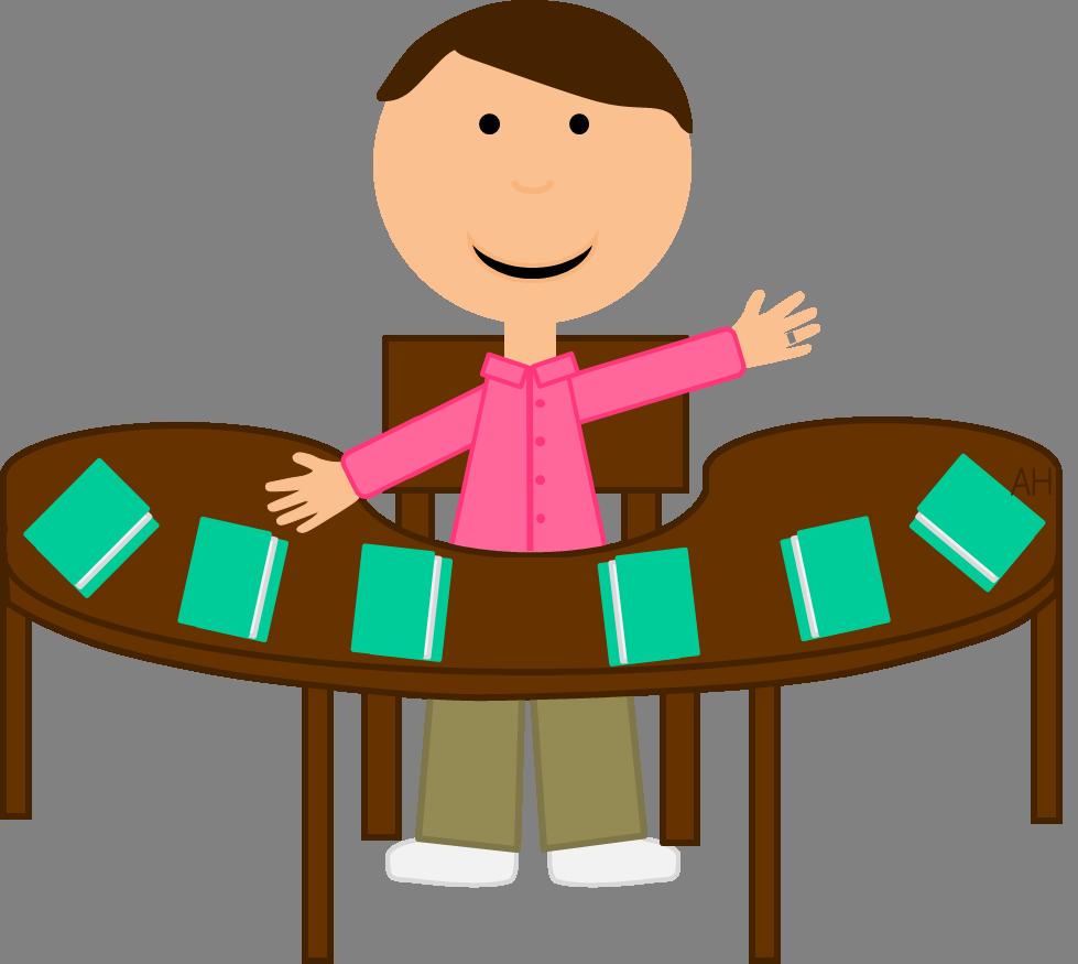 Teacher table . Furniture clipart animated
