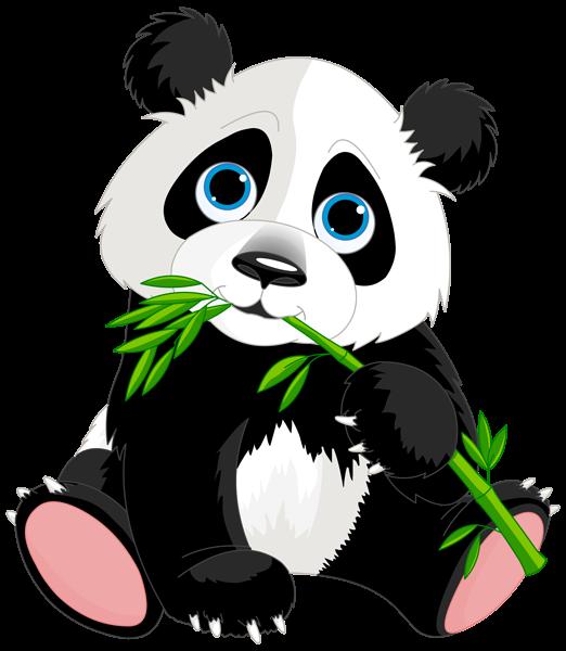 Panda cartoon png image. Clipart rock cute