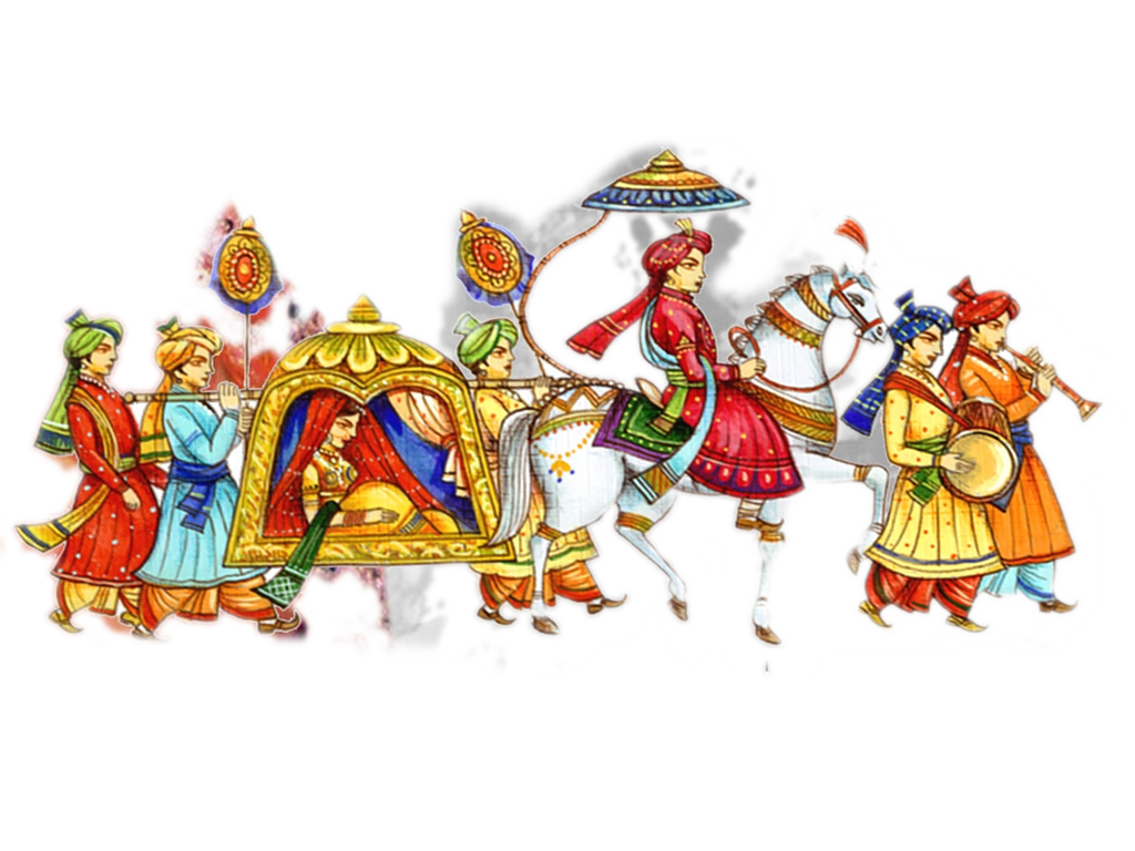 Clipart wedding dtp.  collection of indian