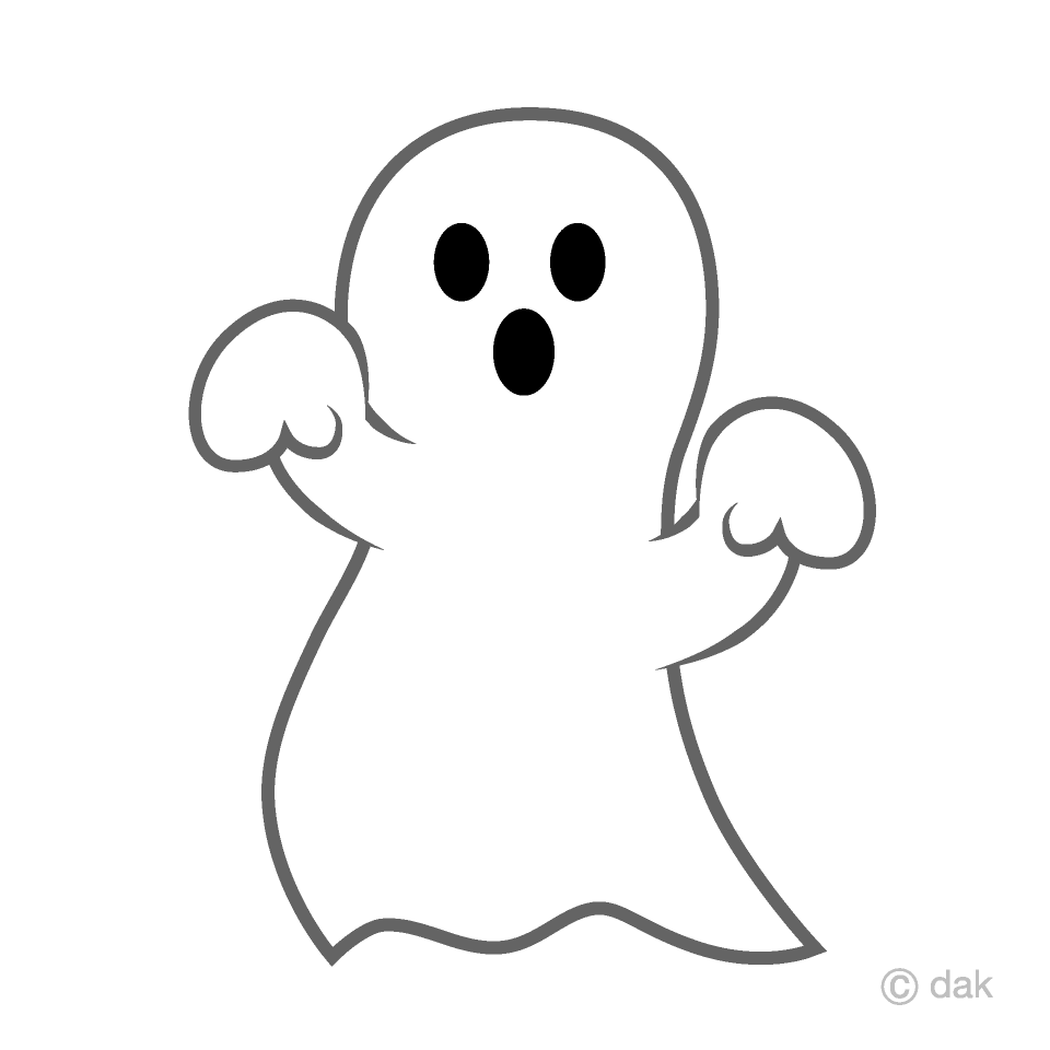 Ghost clipart. Funny free picture illustoon