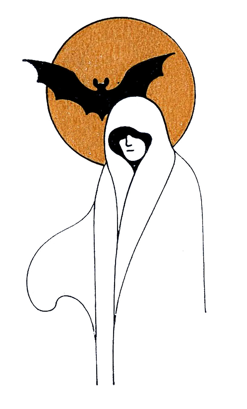 Clipart ghost. Vintage halloween clip art