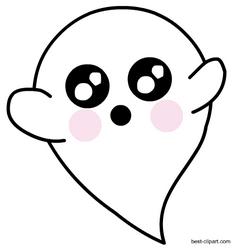 Ghost clipart adorable. Super cute clip art