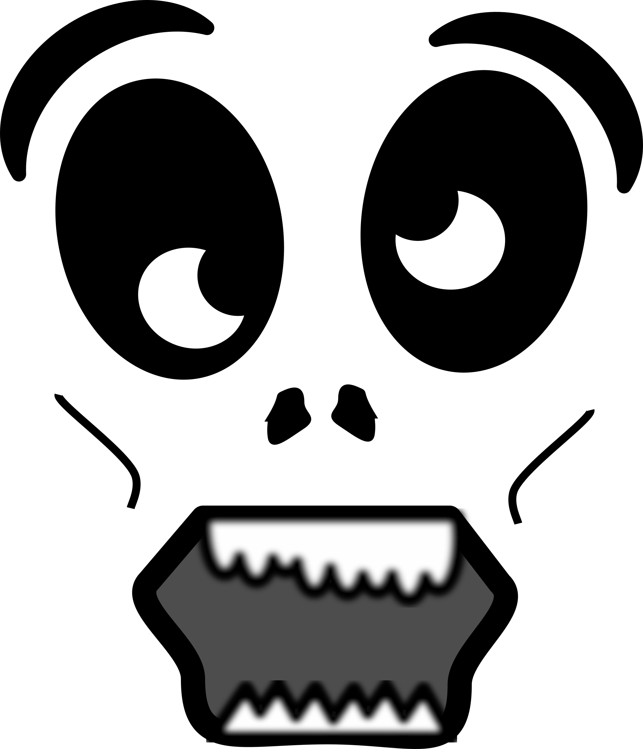 Clipart - Cartoon Zombie Face