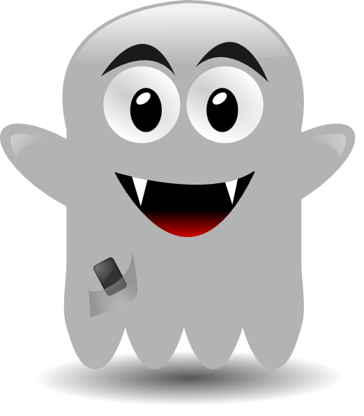 With a cellephone clip. Hands clipart ghost