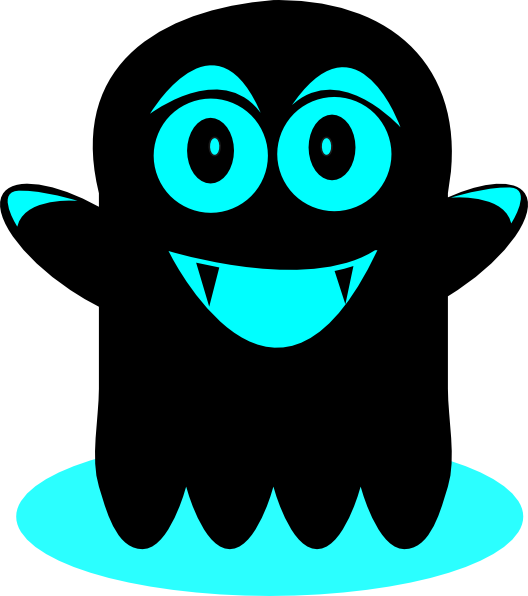 And black clip art. Ghost clipart blue ghost