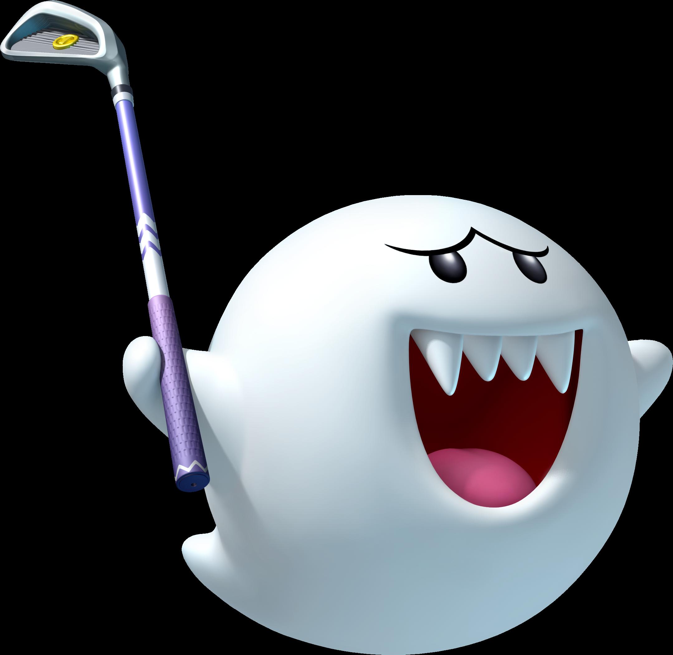 Mario clipart mario ghost. Image boo artwork golf