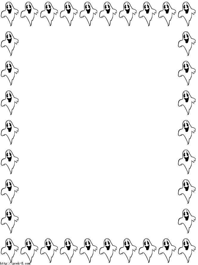 Halloween funny paper free. Clipart ghost border