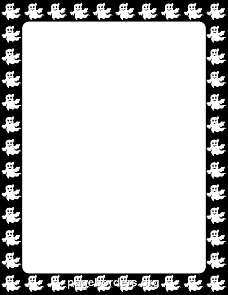 Clipart ghost border. Page borders halloween