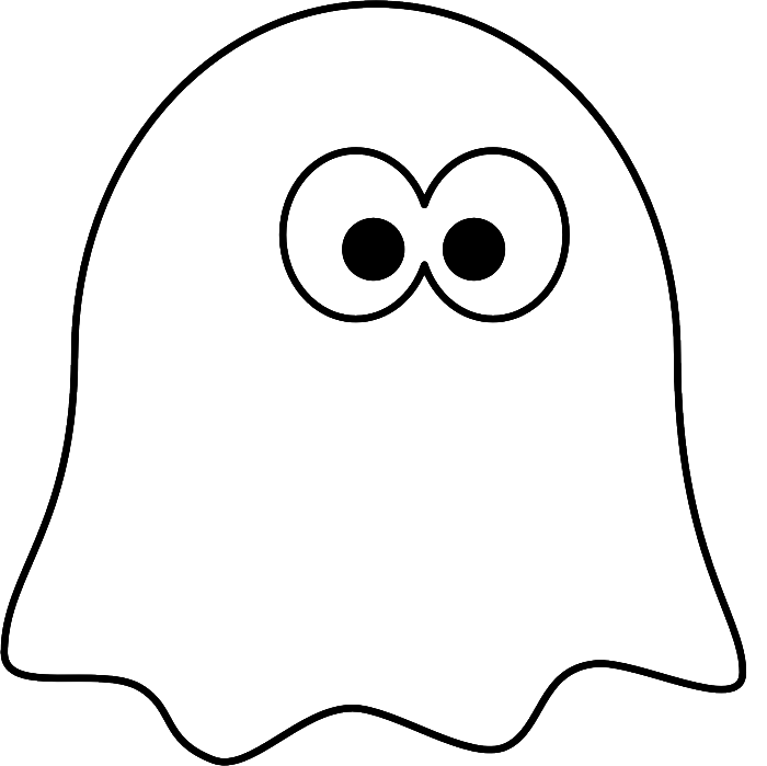 Coloring little pages art. Ghost clipart printable