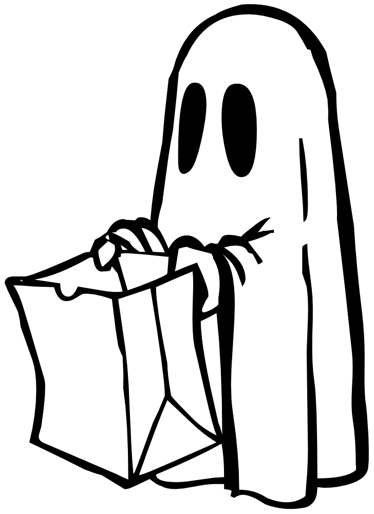 Clip art black and. Hand clipart ghost