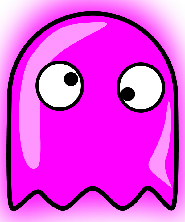 Pacman clipart vector.  collection of ghost