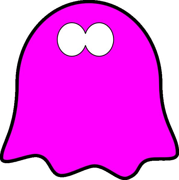 Pink clipart halloween. Friendly dark ghost wavy