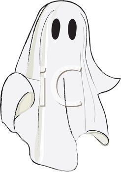 Ghost clipart costume. Picture of a in