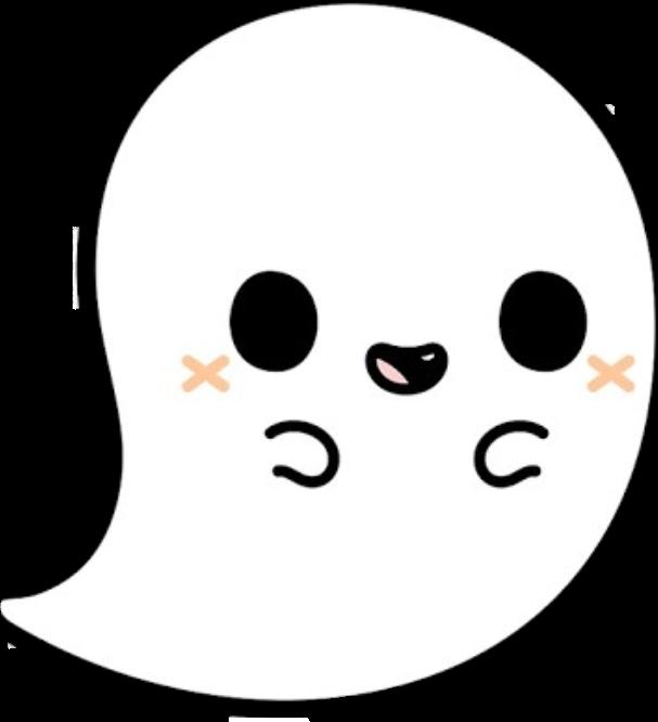 Ghost clipart pretty. Cute tumblr halloween freetoedit