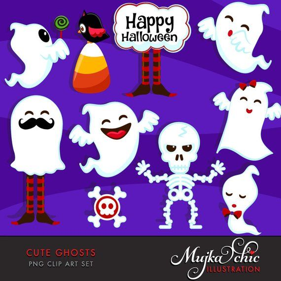 Clipart ghost cute baby. Halloween ghosts graphics
